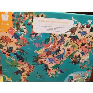 Puzzle éducatif complet  200 pièces les dinosaures