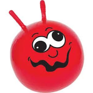 Ballon sauteur rouge, pour enfant énergique!