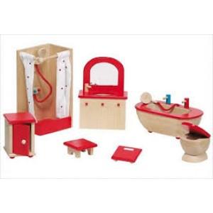 Meubles pour maison de poupée, la salle de bain complète