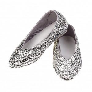 Chaussures en sequins argentés taille 31