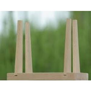 Socle en bois de hêtre pour voilier de bassin, hauteur 12 cm