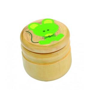 Boîte à dents souris verte