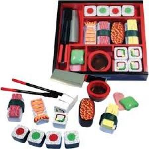 Le bento boîte de  24 sushi en bois
