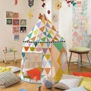 Cabane de jeu multicolore, tente Djeco