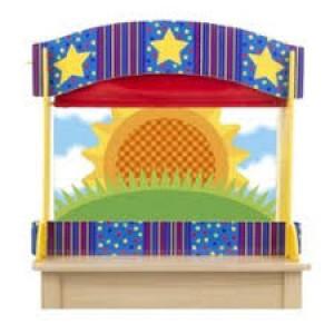 Théâtre de Marionnettes de Table, en bois