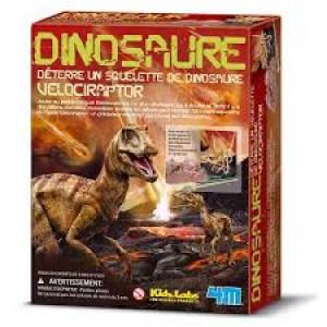 Kit de fouille dinosaure, je découvre les velociraptors