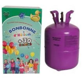 Bonbonne d'hélium 0.25 m3, livrée avec détendeur et ses 30 ballons multicolores