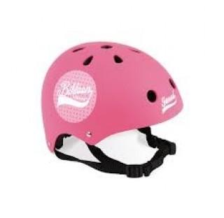 casque rose pour draisienne et vélo