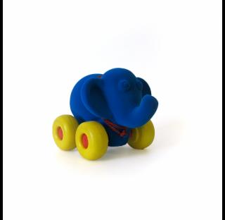 Animal roulant en caoutchouc , l'éléphant bleu