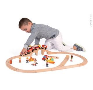 Grand circuit de train des pompiers
