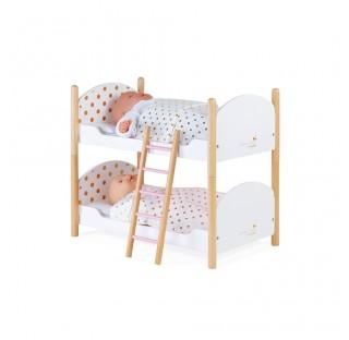 2 lits superposés en bois pour poupées jusqu'à 42 cm
