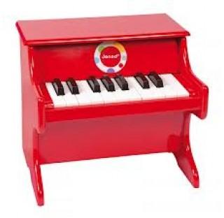 Piano en bois  rouge