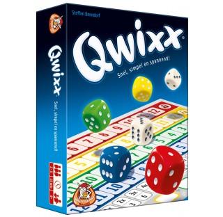 QWIXX,  Règles simplissimes, tours de jeu dynamiques, captivant jusqu'au dernier moment.
