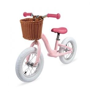 La draisienne Bikloon en métal vintage rose, vrais pneus gonflables