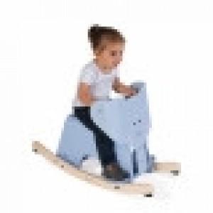 Eléphant à bascule en bois très solide