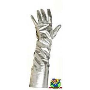 gants  de star, couleur argent