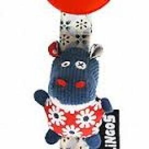 """Attache- tétines  Pacifier clips Déglingos """"Hippopos l'hippopotame"""""""