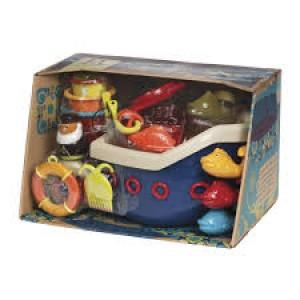 Le bateau de bain rigolo avec ses 12 jouets complémentaires