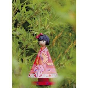 Luciole, lampe veilleuse  féerique, princesse japonaise Kimiko
