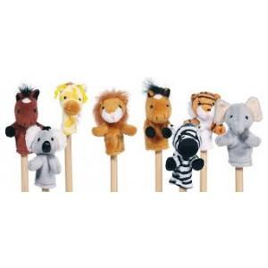 Le grand set de 8 Marionnettes à doigts  en peluche