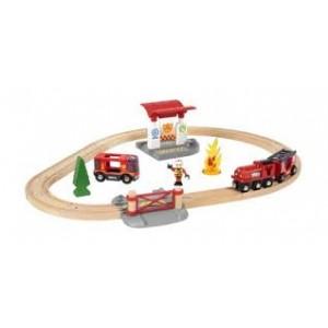 Circuit de train pompier Brio