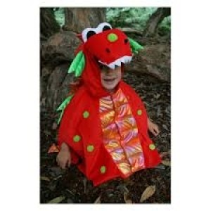 Déguisement Dinosaure-Dragon rouge