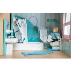 Meubles pour maison de poupée, la salle de bain complète Sugar Plum