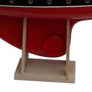 Socle en bois de hêtre pour voilier de bassin, hauteur 16 cm