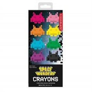 Crayons pastel Space Invaders