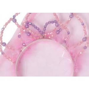 Baguette magique et diadème de perles roses ( le set complet)