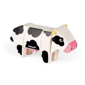 Animal en bois facile  à construire, la vache en kit